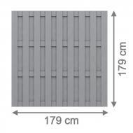 Brügmann Sichtschutzzaun Jumbo WPC Rechteck grau - 179 x 179 cm