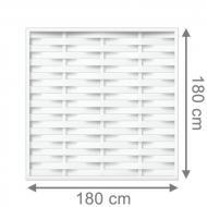 TraumGarten Sichtschutzzaun Longlife Romo Rechteck weiß - 180 x 180 cm