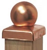 Brügmann Pfostenkappe Kupfer Kugel - 9 x 9 cm