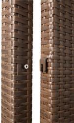 TraumGarten Zaunpfosten Weave mocca - 7 x 7 x 245 cm