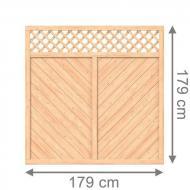 Brügmann Sichtschutzzaun ALTAI MARO Rechteck mit Gitter naturbelassen - 179 x 179 cm