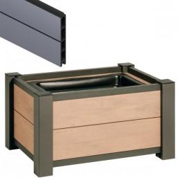 pflanzkasten system wpc anthrazit 60 x 40 x 40cm. Black Bedroom Furniture Sets. Home Design Ideas
