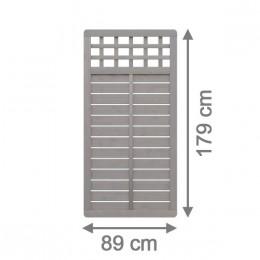 sichtschutzzaun galant 89 x 179 cm rechteck mit gitter. Black Bedroom Furniture Sets. Home Design Ideas