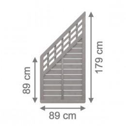 sichtschutzzaun galant 89 x 179 cm anschluss mit gitter. Black Bedroom Furniture Sets. Home Design Ideas