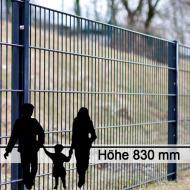 Doppelstabgitterzaun Metallzaun 6/5/6 MORITZ RAL 7016 - Höhe: 830 mm