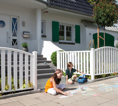Zaun profi z une sichtschutzzaun gartenzaun online kaufen - Vorgartenzaun modern ...